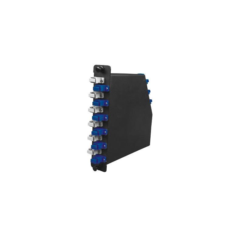 3 Cassette Modules 1U Fiber Optic Distribution Frame, Arch Shaped