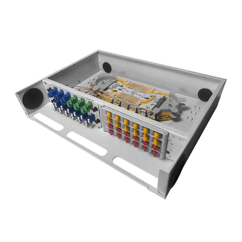 2U 48 Port Fiber Optic Distribution Frame, 12 Cores Tray, Arch Shaped