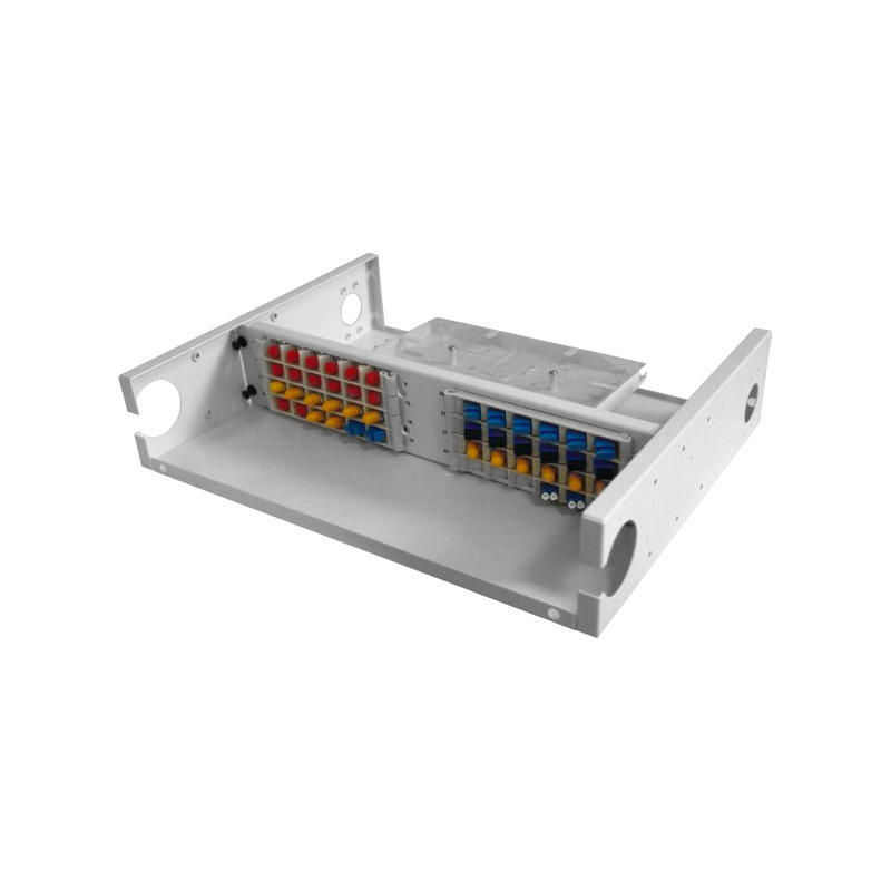 2U 48 Port Fiber Optic Distribution Frame, 24 Cores Splice Tray