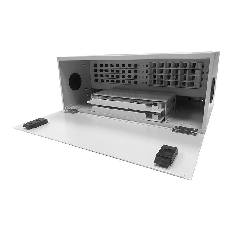 4U 48 Port Fiber Optic Distribution Frame, 24 Cores Splice Tray