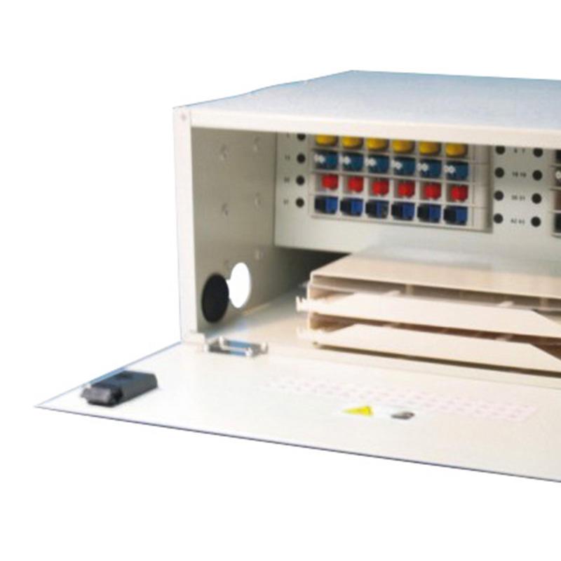 4U 48 Port Fiber Optic Distribution Frame, 24 Cores Splice Tray, CHT