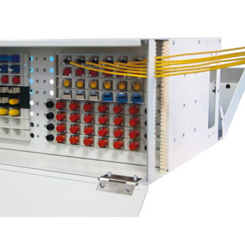 4U 96 Port Fiber Optic Distribution Frame, 24 Cores Splice Tray, TBC