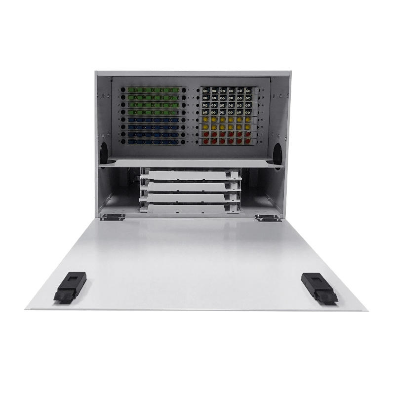 6U 96 Port Fiber Optic Distribution Frame, 24 Cores Splice Tray
