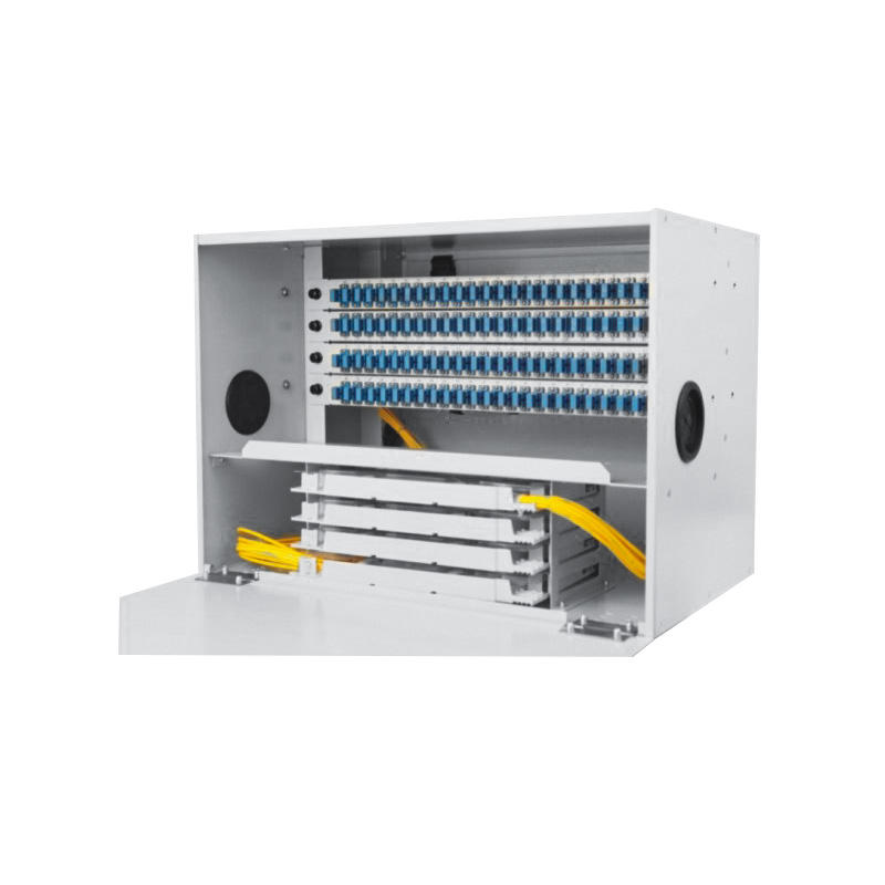 6U 96 Port Fiber Optic Distribution Frame, 24 Cores Splice Tray, CHT