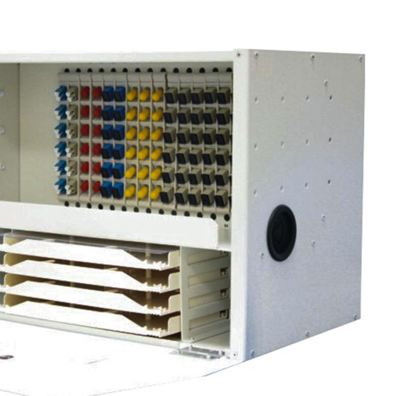 6U 96 Port Fiber Optic Distribution Frame, 24 Cores Splice Tray, H Type