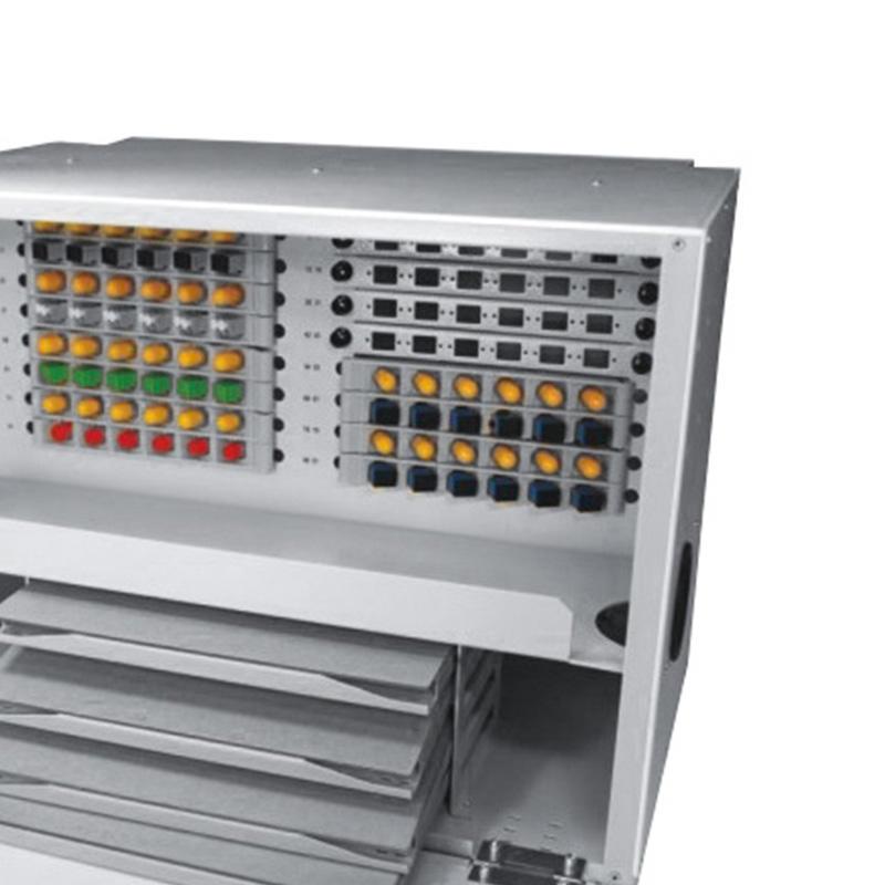 6U 96 Port Fiber Optic Distribution Frame, Metal Tray, X Type