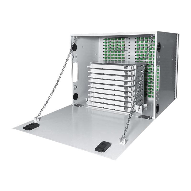 8U 216 Port Fiber Optic Distribution Frame, 24 Cores Splice Tray