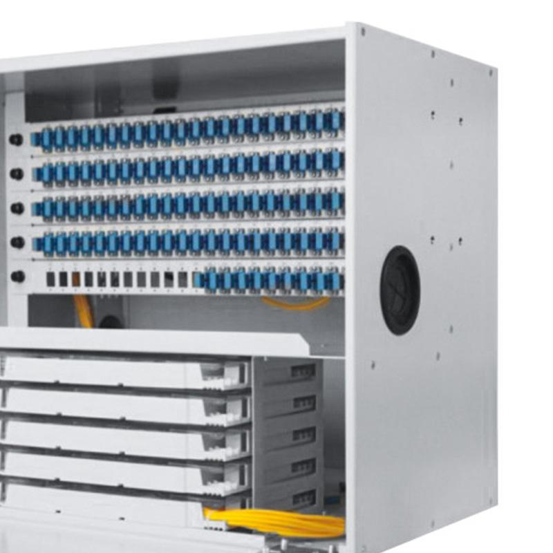 8U 120 Port Fiber Optic Distribution Frame, 24 Cores Splice Tray