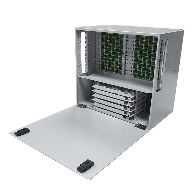 9U 144 Port Fiber Optic Distribution Frame, 24 Cores Splice Tray