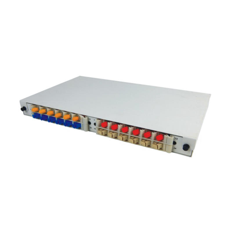 1U 24 Port Fiber Optic Distribution Frame, 12 Cores Tray, Arch Shaped, Width: 250mm