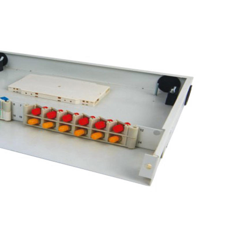 1U 24 Port Fiber Optic Distribution Frame, 12 Cores Tray, Threaded Stem Type