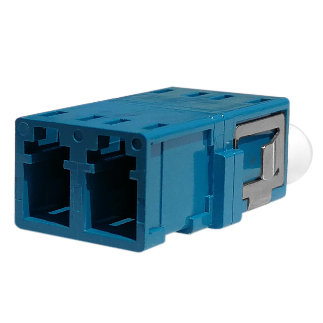 LC Duplex Fiber Optic Adapter without Flange