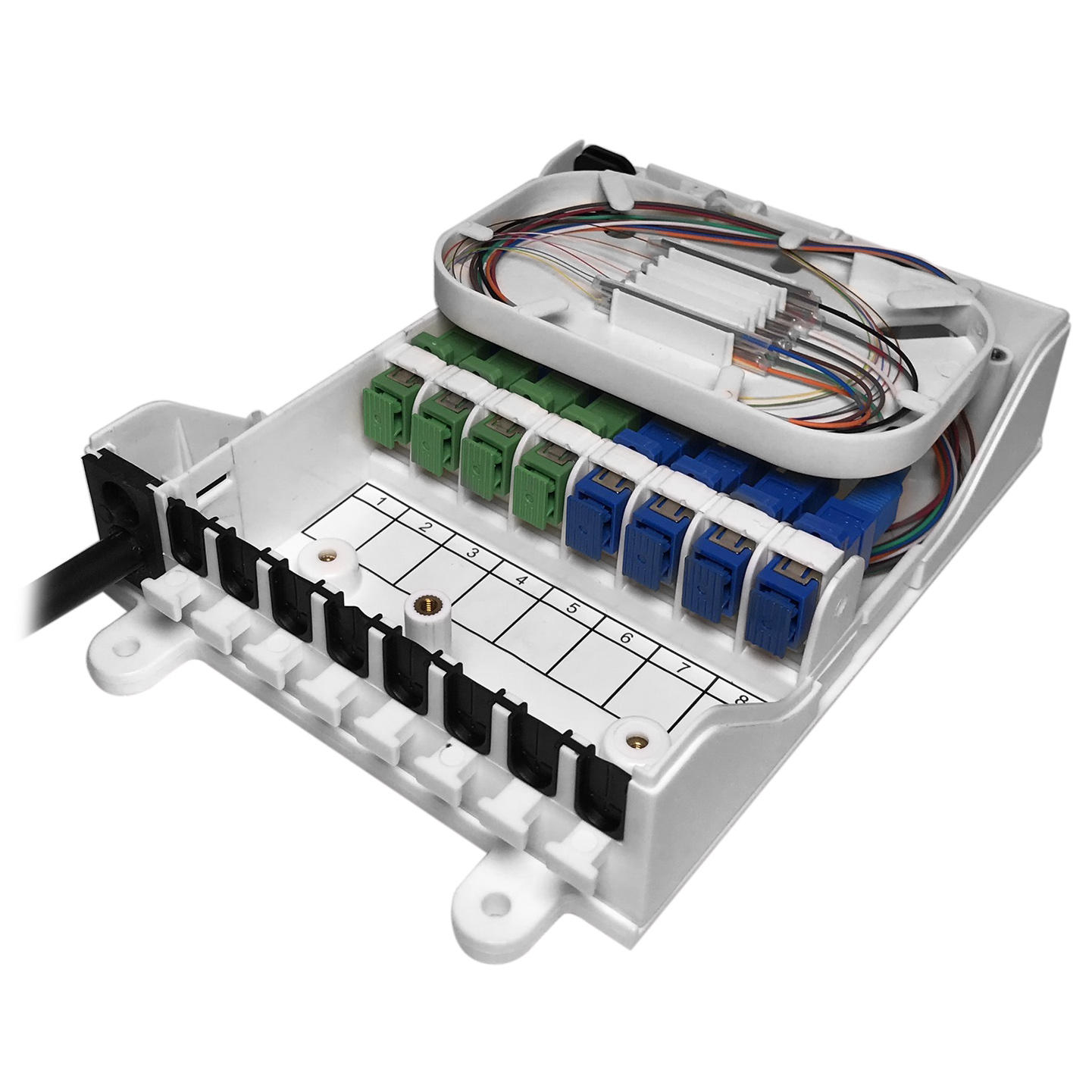 8 Cores Fiber Optic Termination Box