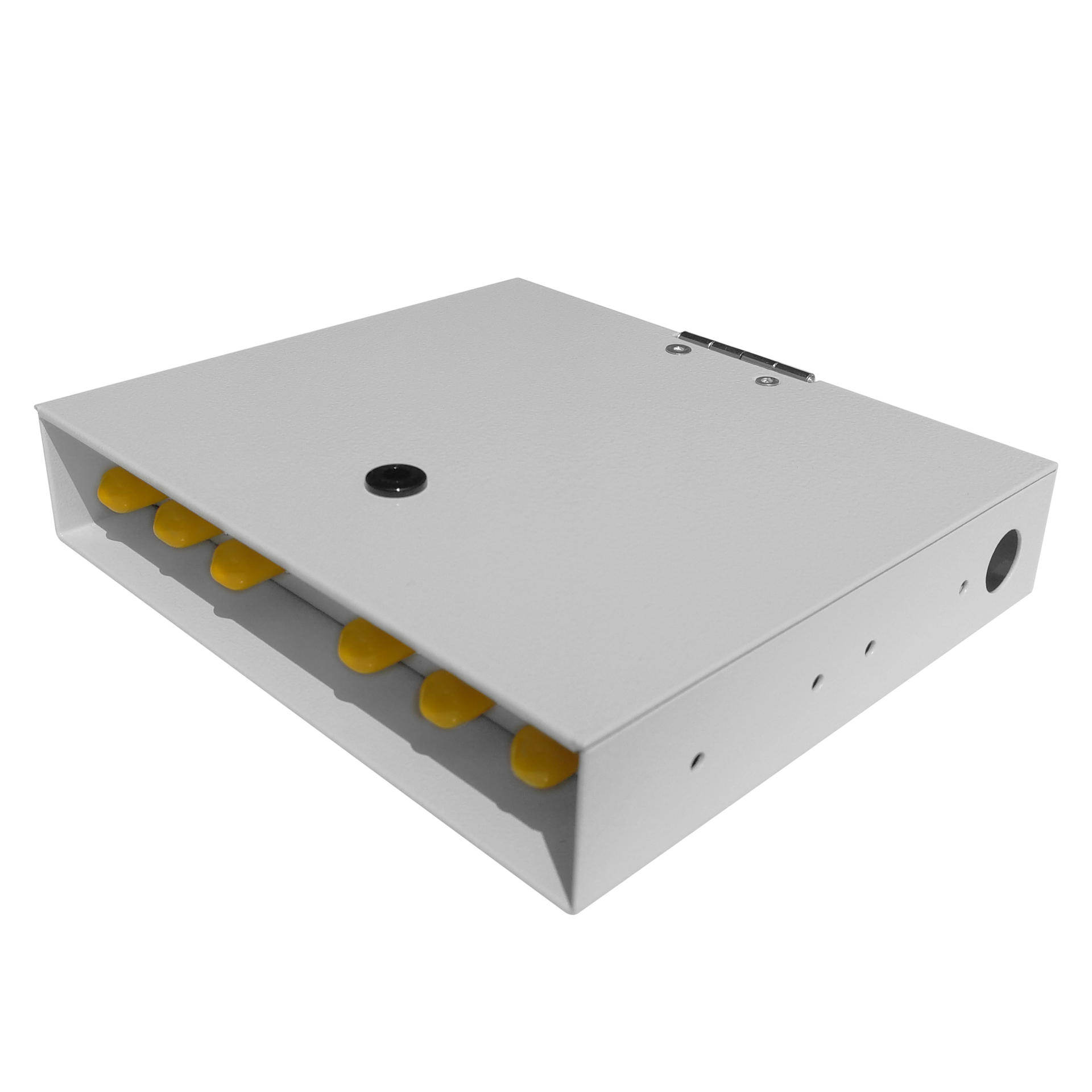 6 Port WODF Fiber Optic Distribution Box, ST Simplex
