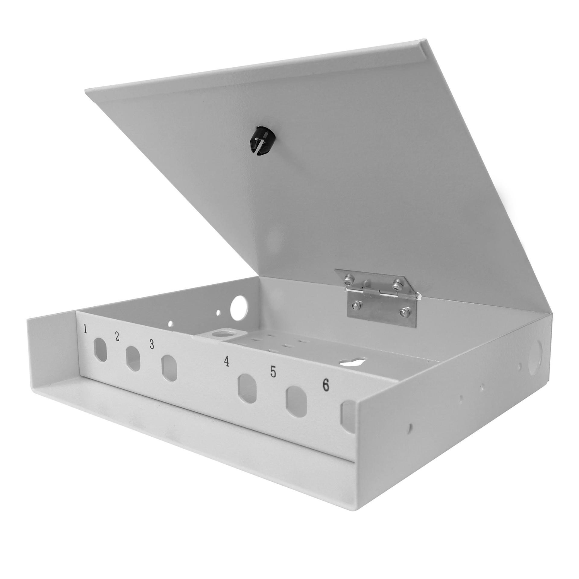 6 Port WODF Fiber Optic Distribution Box, ST Simplex