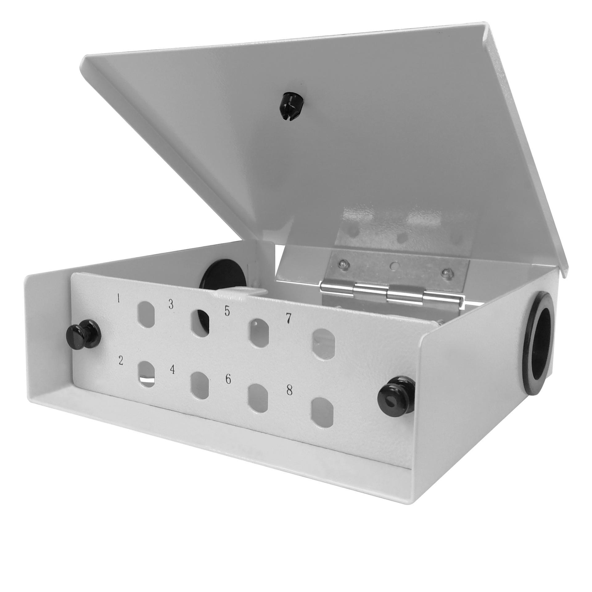 8 Port WODF Fiber Optic Distribution Box, ST Simplex