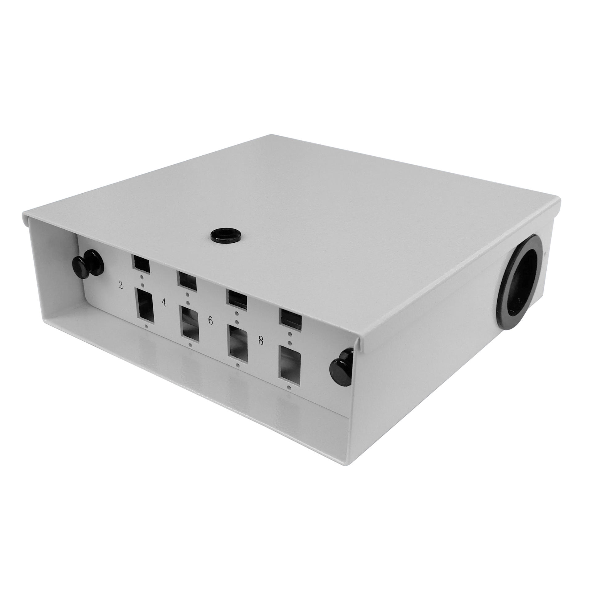 8 Port WODF Fiber Optic Distribution Box, SC Simplex