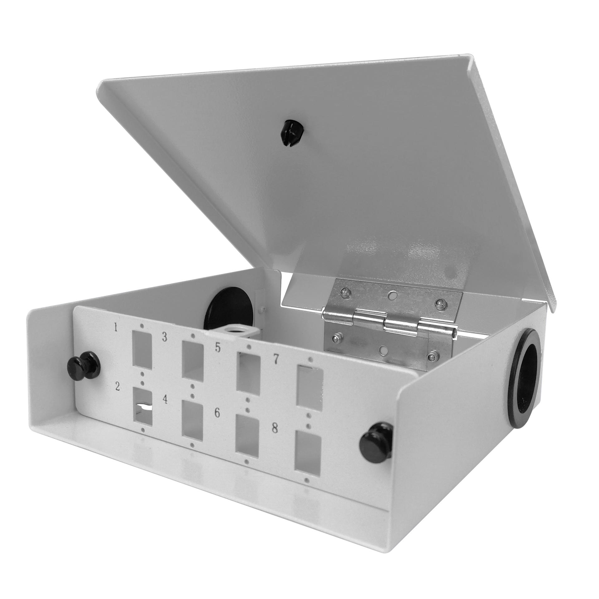 8 Port WODF Fiber Optic Distribution Box, SC Simplex