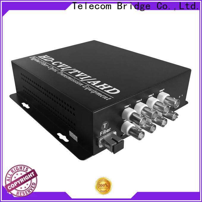 TBT 4ch fiber video converter for business intelligent monitoring systems