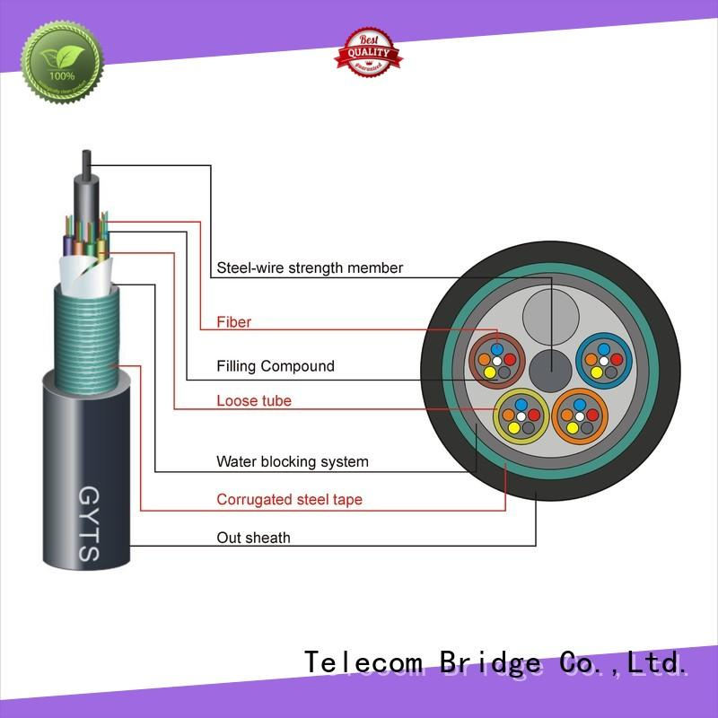 TBT steel outdoor fiber patch cable for business intelligent monitoring systems